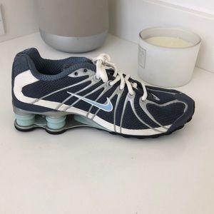 Nike shox running shoe